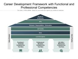 Career Development Framework With Functional And Professional Competencies