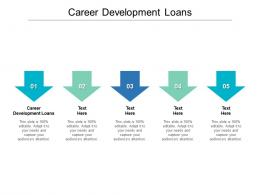 Career Development Loans Ppt Powerpoint Presentation Layouts Objects Cpb