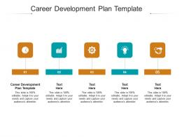 Career Development Plan Template Ppt Powerpoint Presentation Layouts Icons Cpb