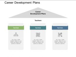 Career Development Plans Ppt Powerpoint Presentation Summary Samples Cpb