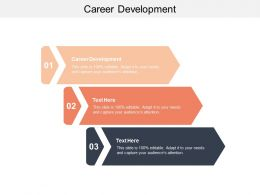 Career Development Ppt Powerpoint Presentation File Guide Cpb