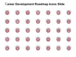 Career Development Roadmap Icons Slide Location Technology E245 Ppt Powerpoint Presentation