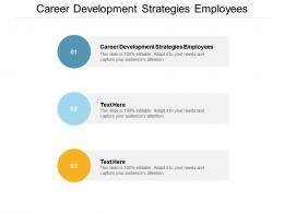 Career Development Strategies Employees Ppt Powerpoint Presentation Ideas Graphics Cpb