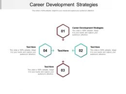 Career Development Strategies Ppt Powerpoint Presentation Model Aids Cpb