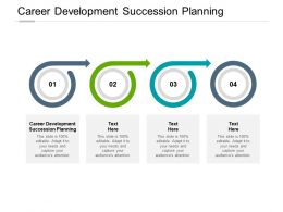 Career Development Succession Planning Ppt Powerpoint Presentation Rules Cpb