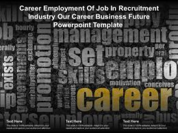 Career Employment Of Job In Recruitment Industry Our Career Business Future Template