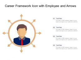 Career Framework Icon With Employee And Arrows