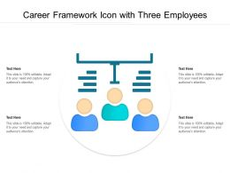 Career Framework Icon With Three Employees