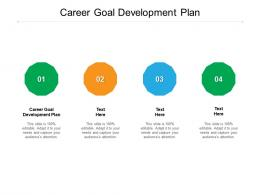 Career Goal Development Plan Ppt Powerpoint Presentation Model Picture Cpb