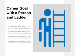 Career Goal With A Person And Ladder