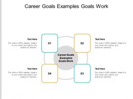 Career Goals Examples Goals Work Ppt Powerpoint Presentation Slides Rules Cpb