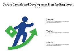 Career Growth And Development Icon For Employee