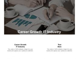 Career Growth IT Industry Ppt Powerpoint Presentation Pictures Vector Cpb