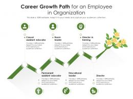 Career Growth Path For An Employee In Organization