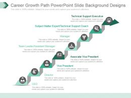 Career Growth Path Powerpoint Slide Background Designs