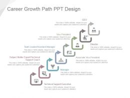 Career Growth Path Ppt Design