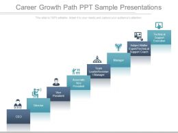 Career Growth Path Ppt Sample Presentations