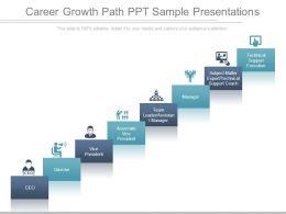 Career Growth Path Ppt Sample Presentations