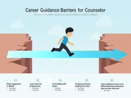 Career Guidance Barriers For Counselor