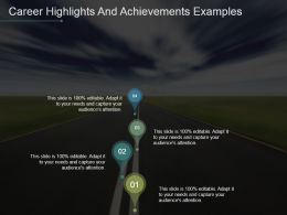 Career Highlights And Achievements Examples Powerpoint Images