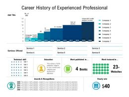Career History Of Experienced Professional