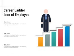 Career Ladder Icon Of Employee