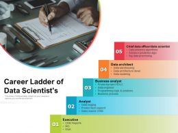 Career Ladder Of Data Scientists