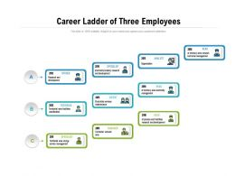 Career Ladder Of Three Employees