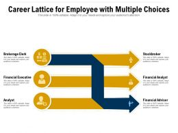 Career Lattice For Employee With Multiple Choices