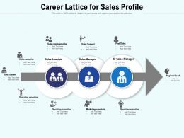 Career Lattice For Sales Profile