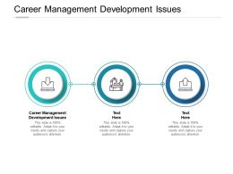 Career Management Development Issues Ppt Powerpoint Presentation Slides Cpb