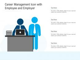 Career Management Icon With Employee And Employer