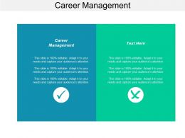 Career Management Ppt Powerpoint Presentation Layouts Icons Cpb