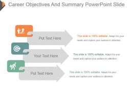 Career Objectives And Summary Powerpoint Slide