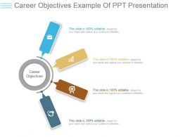 Career Objectives Example Of Ppt Presentation