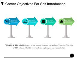 Career Objectives For Self Introduction Powerpoint Templates