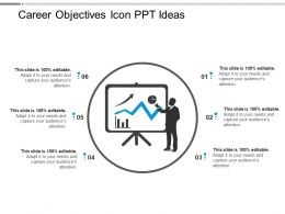 Career Objectives Icon Ppt Ideas