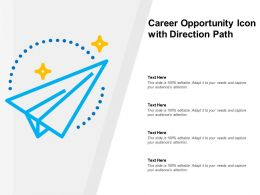 Career Opportunity Icon With Direction Path