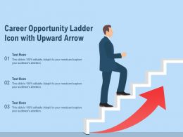 Career Opportunity Ladder Icon With Upward Arrow