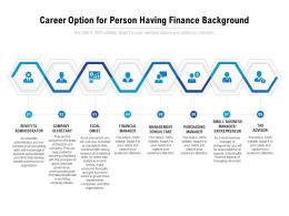 Career Option For Person Having Finance Background
