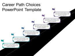 Career Path Choices Powerpoint Template