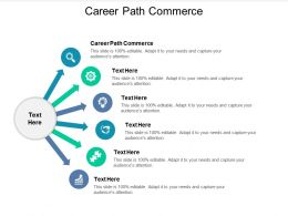 Career Path Commerce Ppt Powerpoint Presentation Model Shapes Cpb