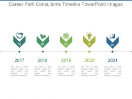 Career Path Consultants Timeline Powerpoint Images