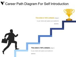 Career Path Diagram For Self Introduction Powerpoint Graphics