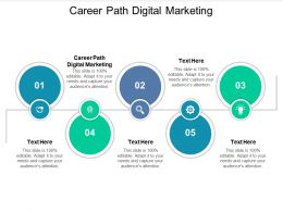 Career Path Digital Marketing Ppt Powerpoint Presentation Infographics Outline Cpb