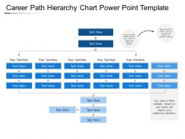 Career Path Hierarchy Chart Power Point Template