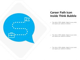 Career Path Icon Inside Think Bubble