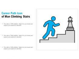 Career Path Icon Of Man Climbing Stairs