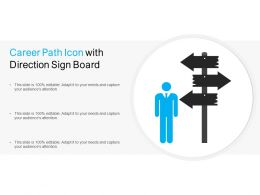 Career Path Icon With Direction Sign Board