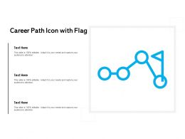 Career Path Icon With Flag